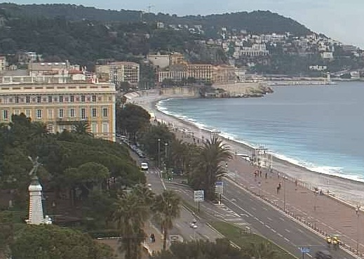 Promenade des Anglais from the Le Méridien Nice